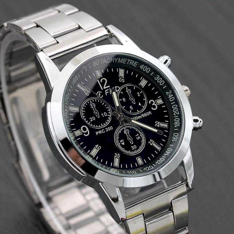 miniatura 6 - NUOVO da uomo orologio in acciaio inox SPORT QUARZO ORE Polso Analogico Business