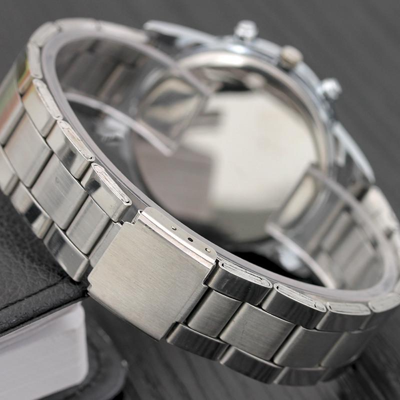 miniatura 7 - NUOVO da uomo orologio in acciaio inox SPORT QUARZO ORE Polso Analogico Business
