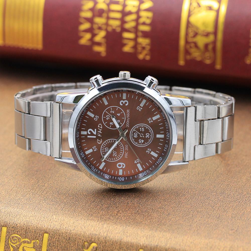 miniatura 4 - NUOVO da uomo orologio in acciaio inox SPORT QUARZO ORE Polso Analogico Business