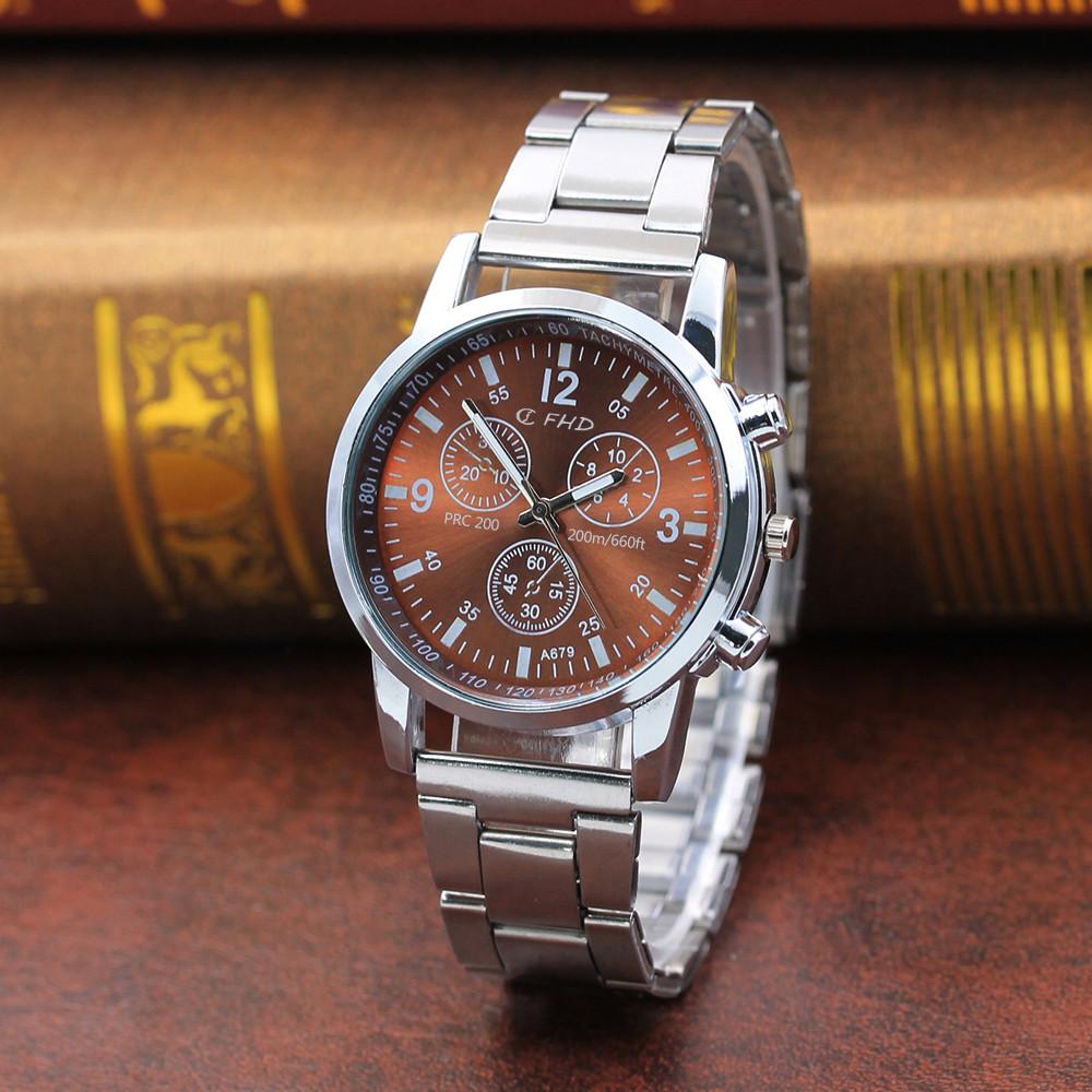 miniatura 3 - NUOVO da uomo orologio in acciaio inox SPORT QUARZO ORE Polso Analogico Business