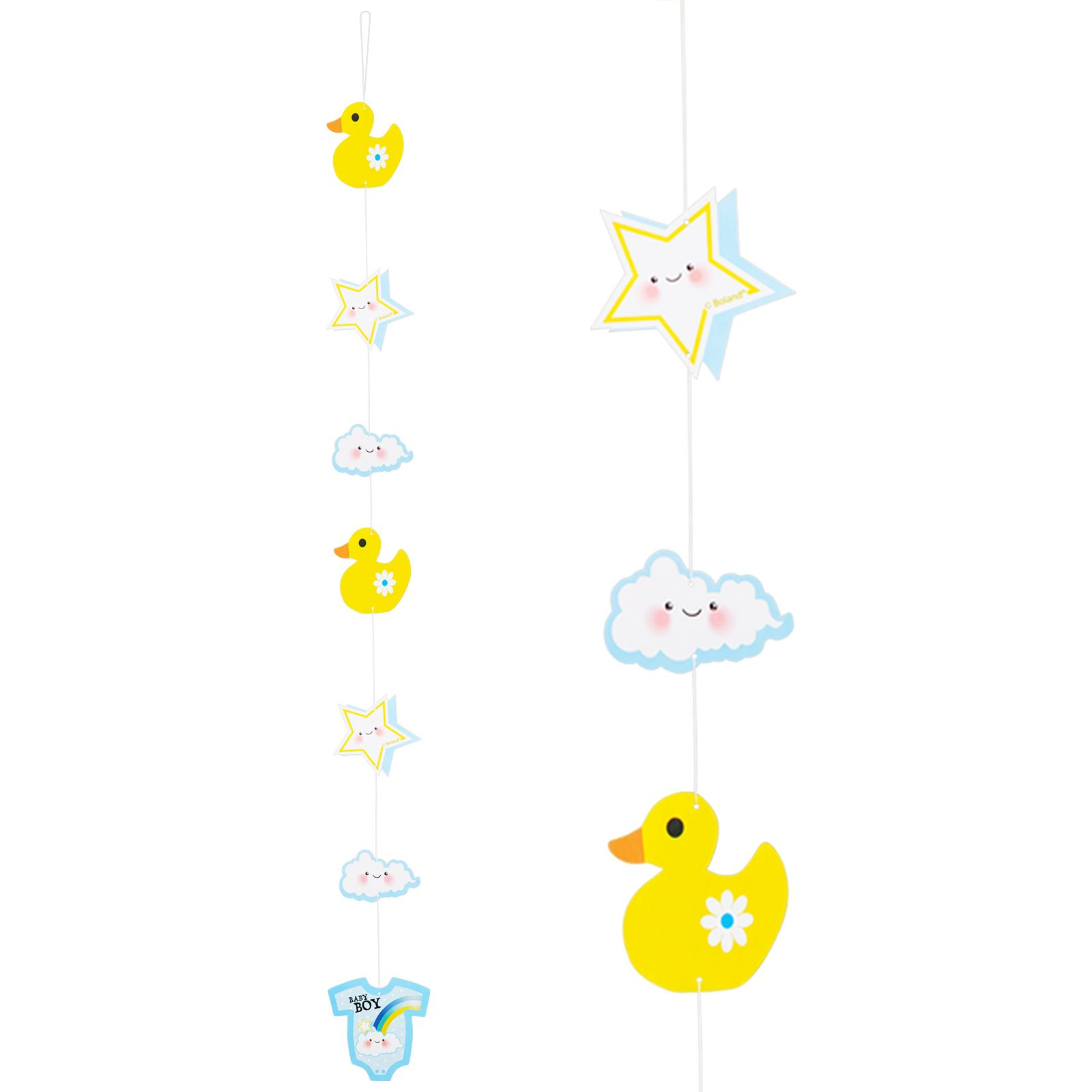 Recien-Nacido-Baby-Shower-Nino-Nina-Azul-Rosa-Pancarta-nino-o-Nina-Fiesta-CUERDA