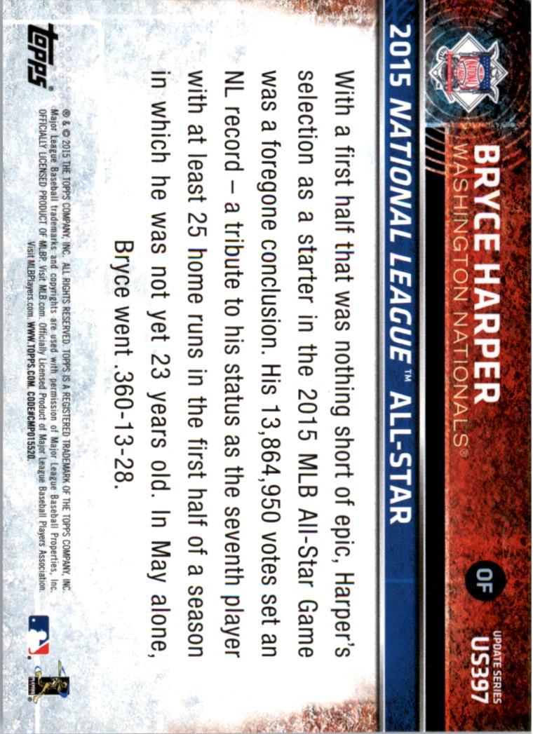 2015-Topps-Actualizacion-Beisbol-Tarjeta-Recoger-238-400 miniatura 197