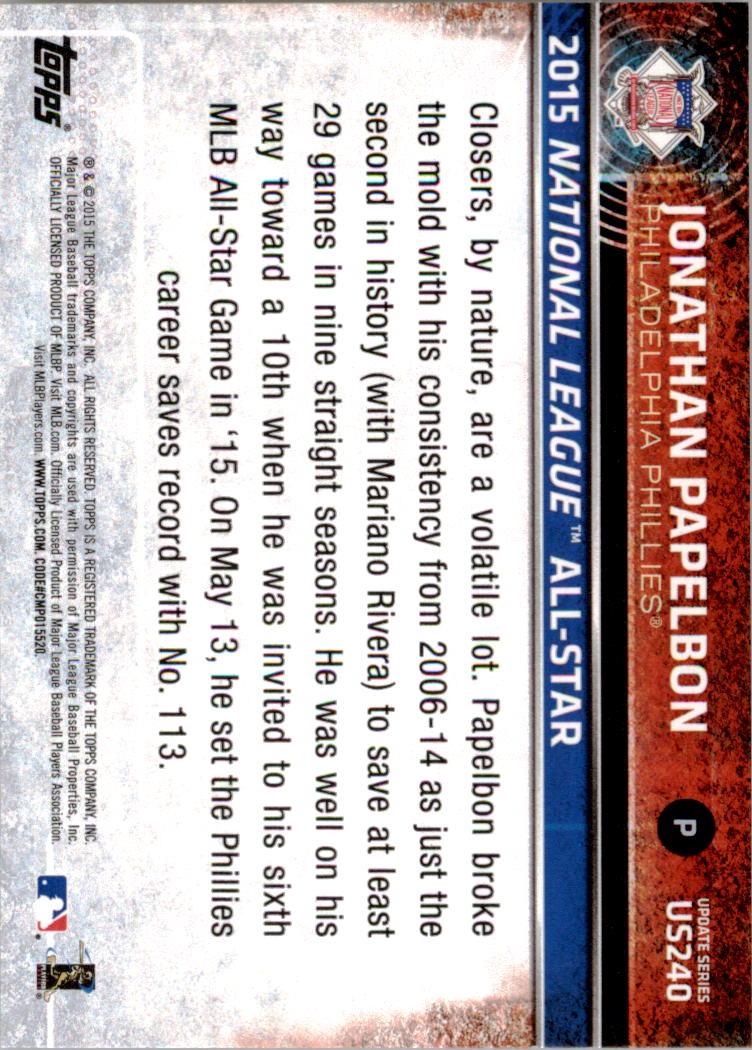 2015-Topps-Actualizacion-Beisbol-Tarjeta-Recoger-238-400 miniatura 6