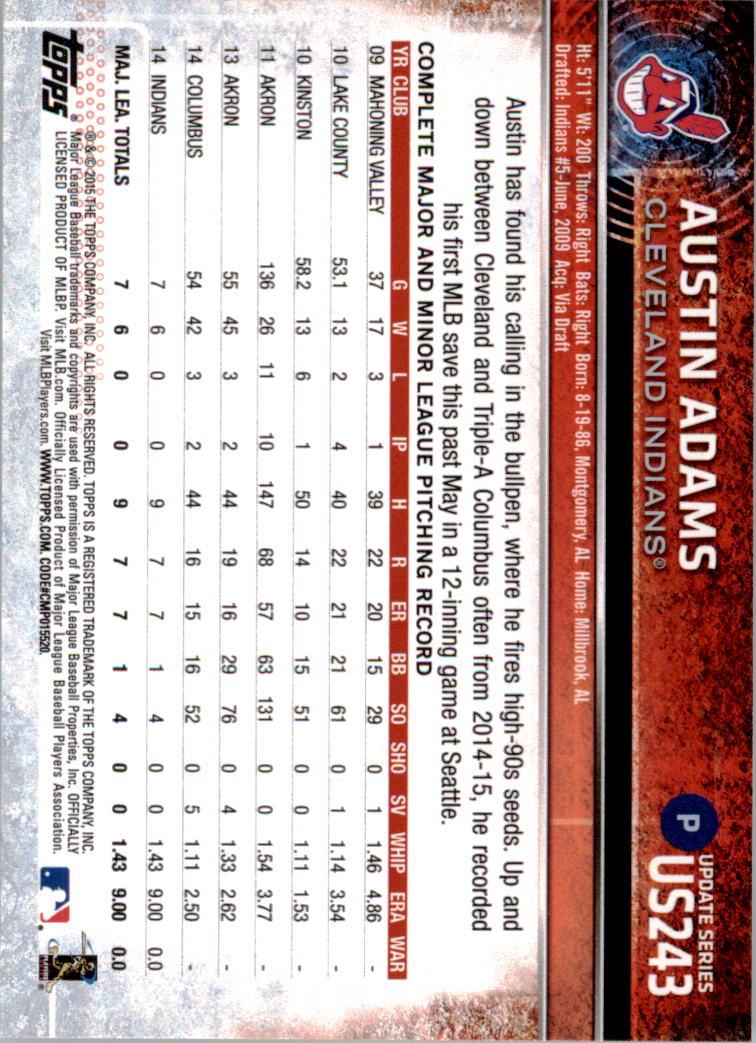 2015-Topps-Actualizacion-Beisbol-Tarjeta-Recoger-238-400 miniatura 9