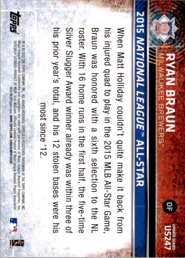 2015-Topps-Actualizacion-Beisbol-Tarjeta-Recoger-238-400 miniatura 15
