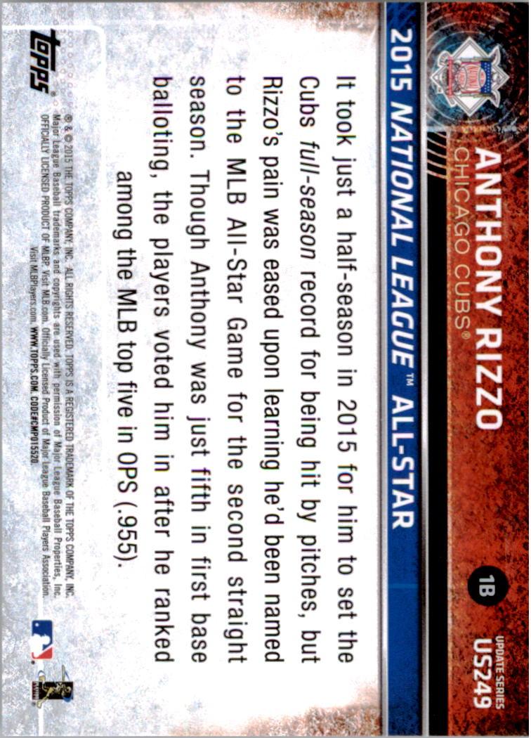 2015-Topps-Actualizacion-Beisbol-Tarjeta-Recoger-238-400 miniatura 19