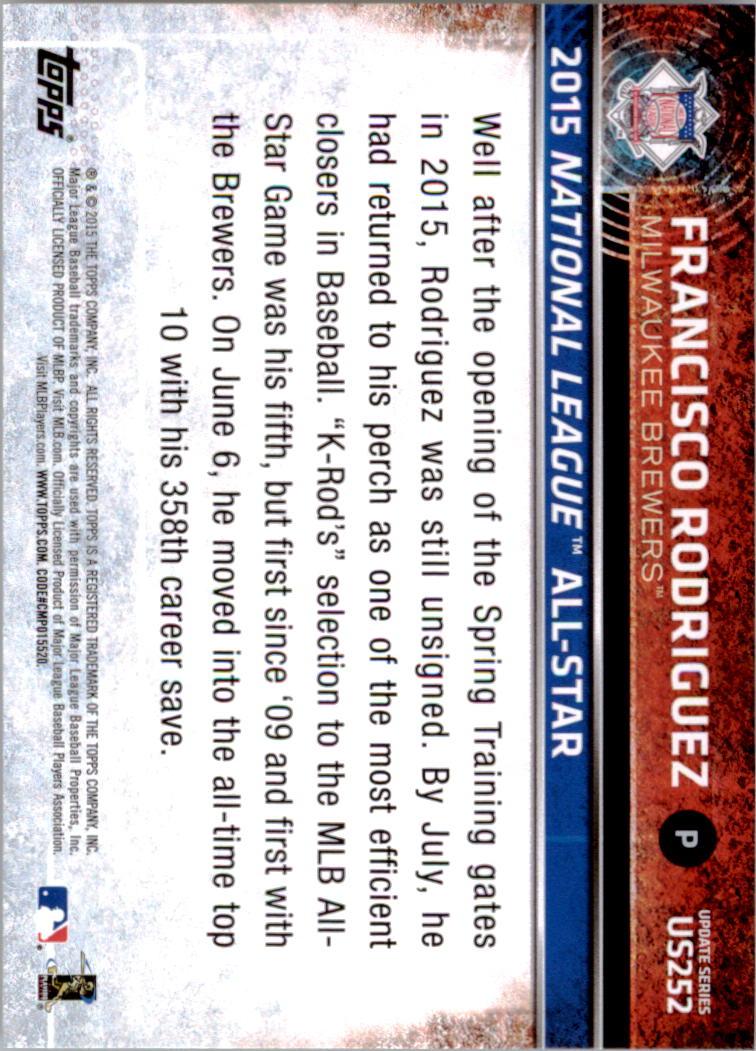 2015-Topps-Actualizacion-Beisbol-Tarjeta-Recoger-238-400 miniatura 24