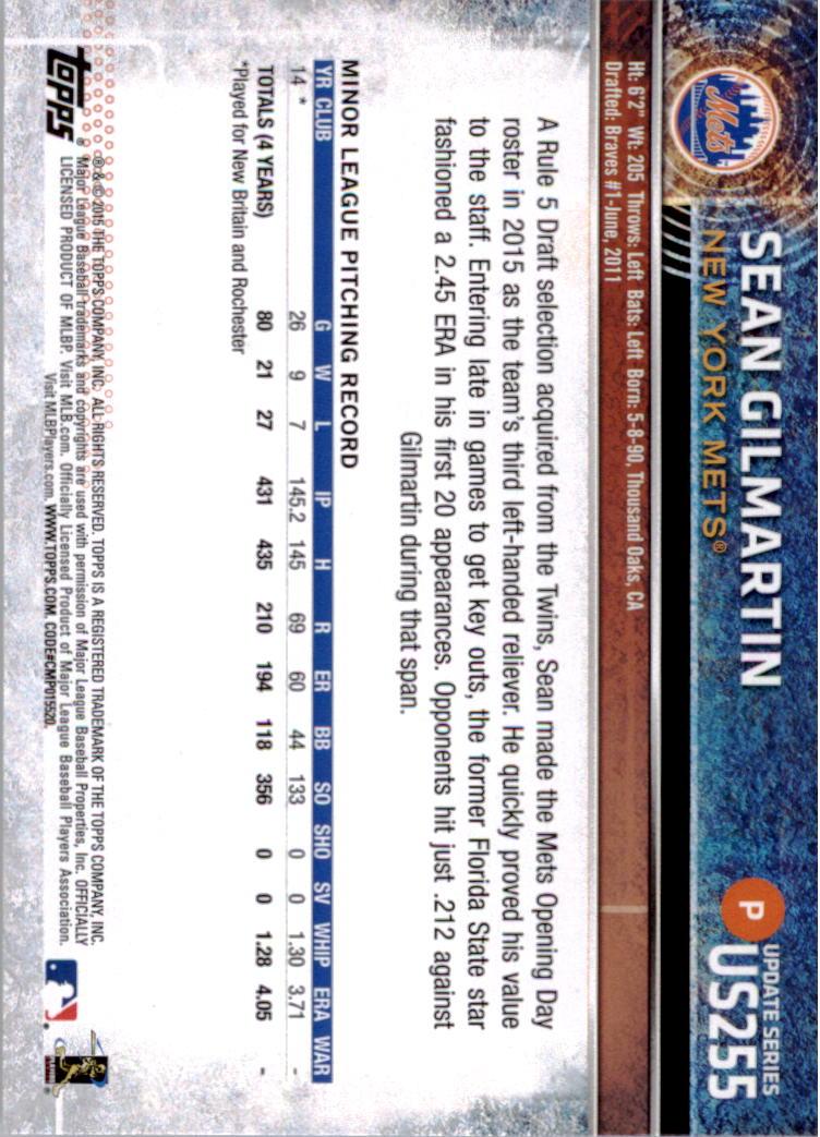 2015-Topps-Actualizacion-Beisbol-Tarjeta-Recoger-238-400 miniatura 29