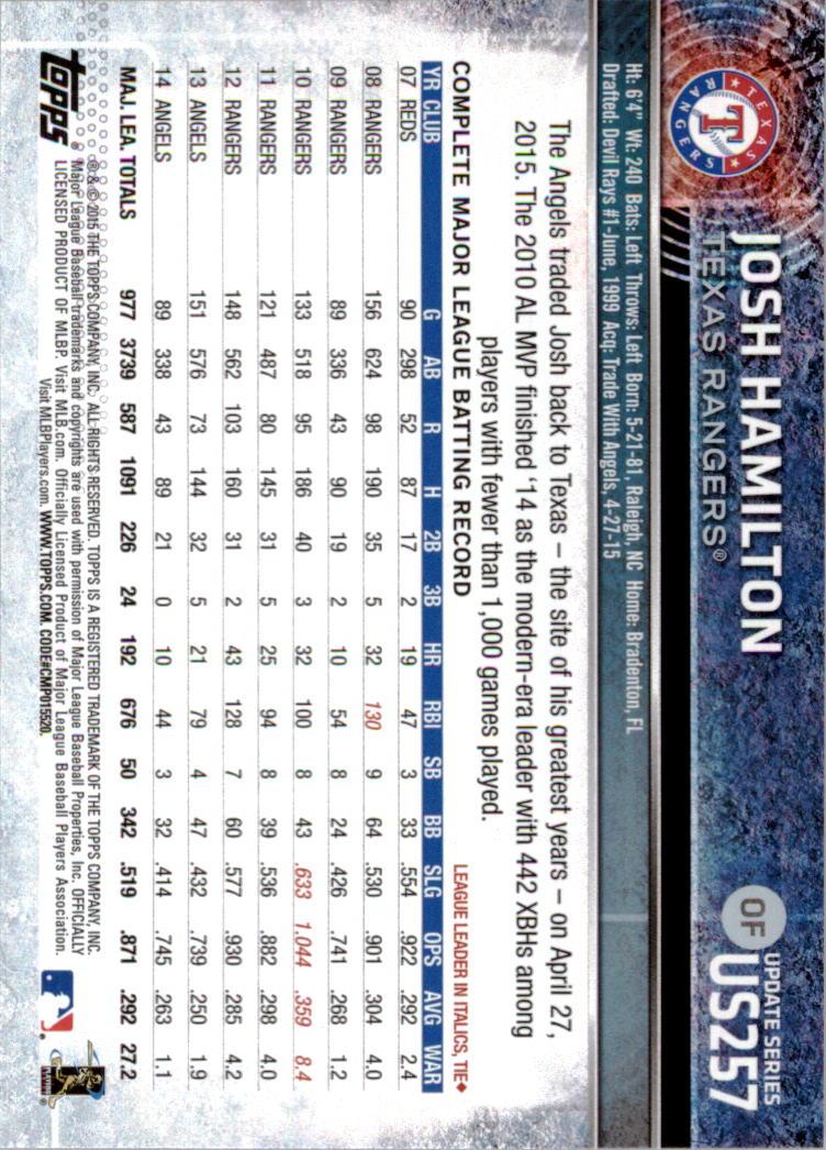 2015-Topps-Actualizacion-Beisbol-Tarjeta-Recoger-238-400 miniatura 33