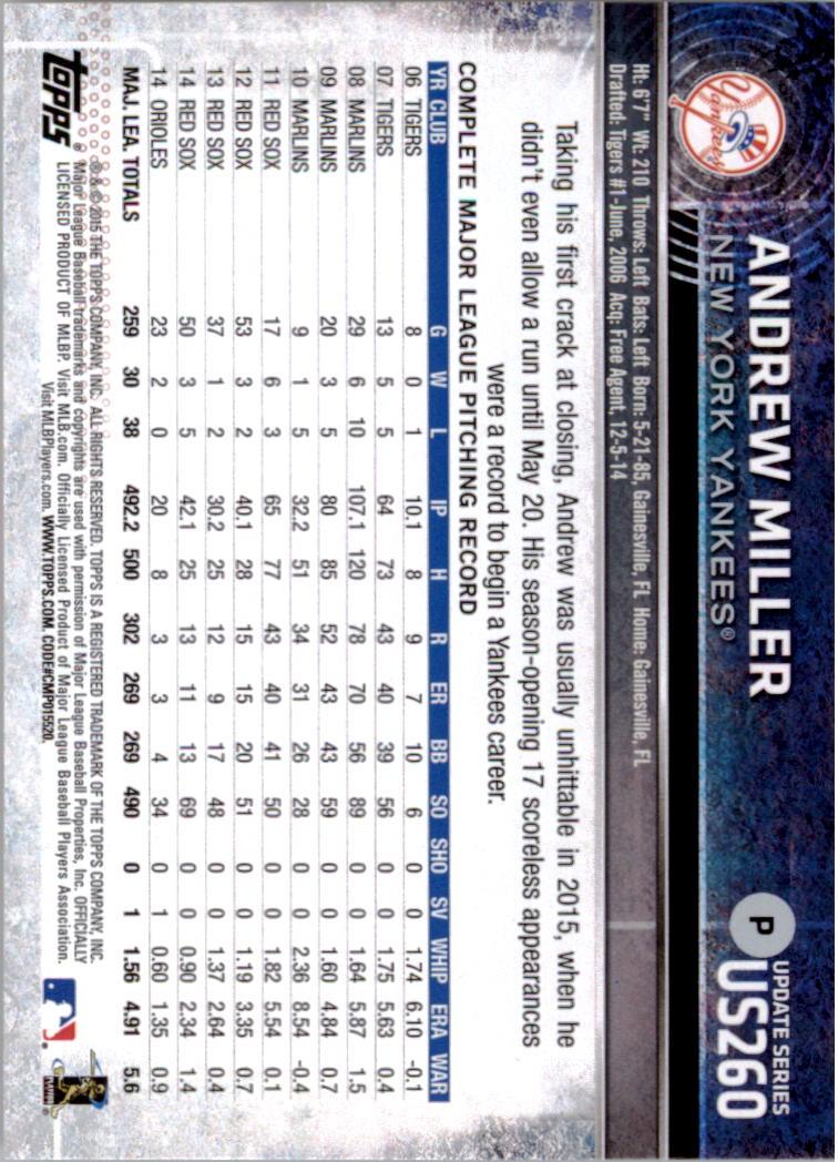 2015-Topps-Actualizacion-Beisbol-Tarjeta-Recoger-238-400 miniatura 37