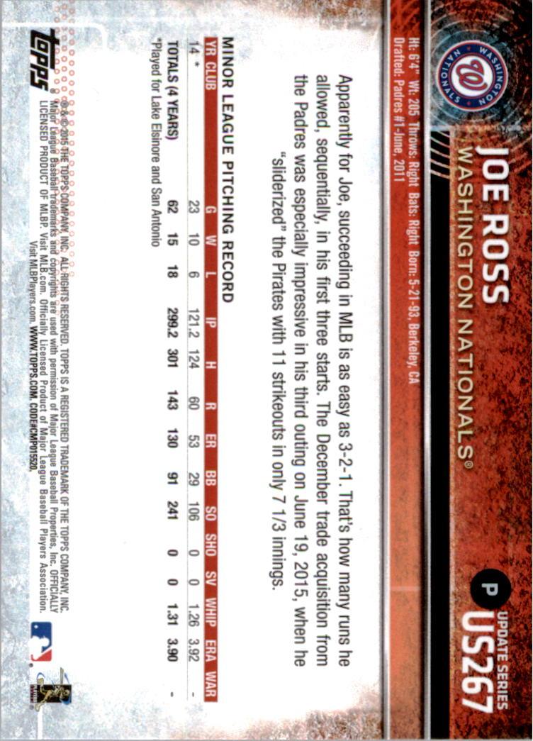 2015-Topps-Actualizacion-Beisbol-Tarjeta-Recoger-238-400 miniatura 51