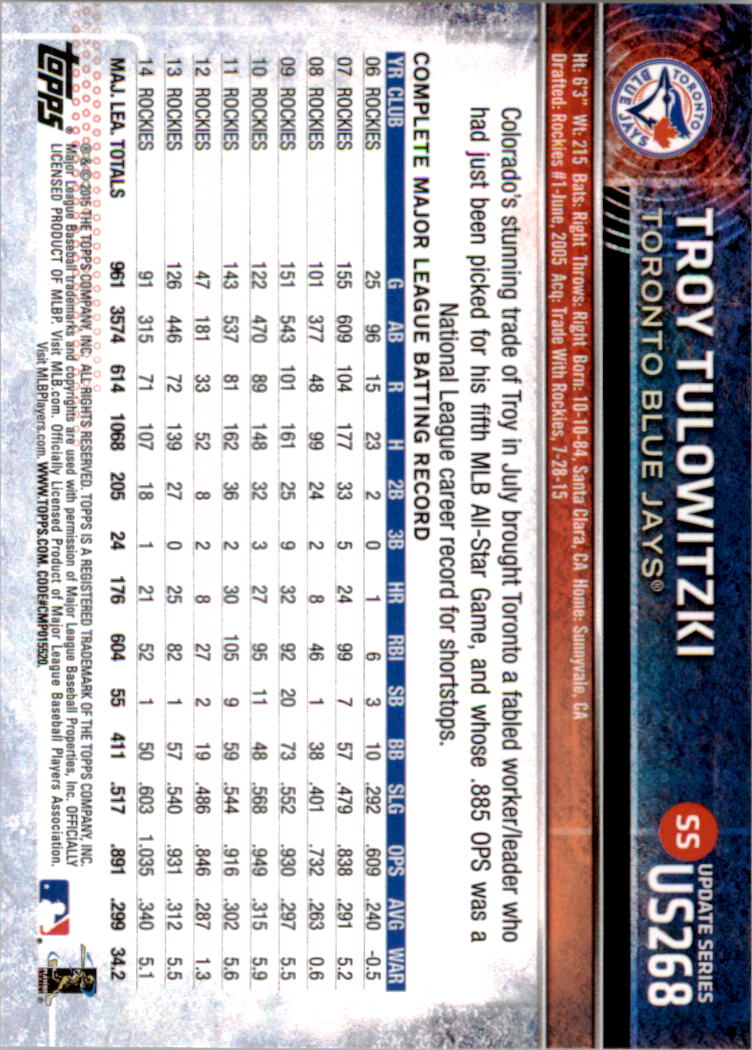 2015-Topps-Actualizacion-Beisbol-Tarjeta-Recoger-238-400 miniatura 53
