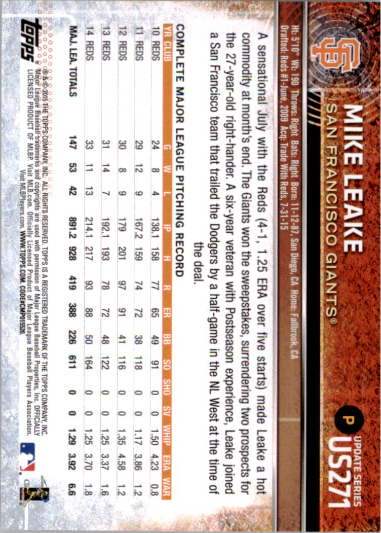 2015-Topps-Actualizacion-Beisbol-Tarjeta-Recoger-238-400 miniatura 59
