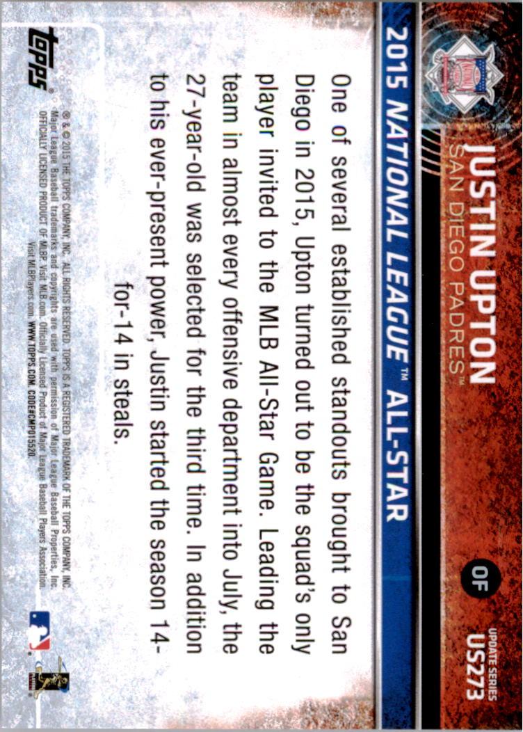 2015-Topps-Actualizacion-Beisbol-Tarjeta-Recoger-238-400 miniatura 62