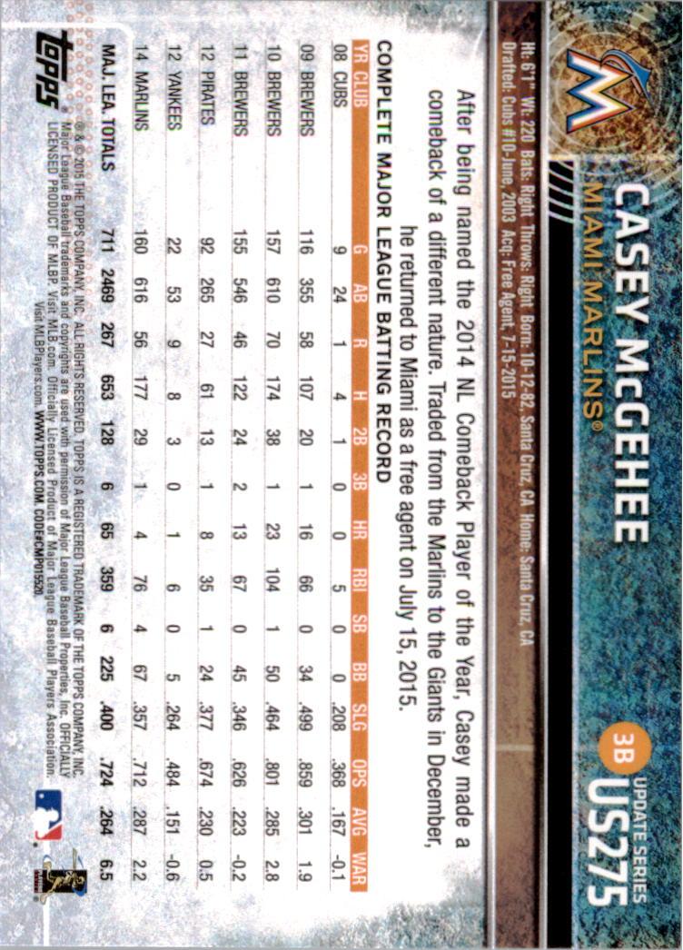 2015-Topps-Actualizacion-Beisbol-Tarjeta-Recoger-238-400 miniatura 65