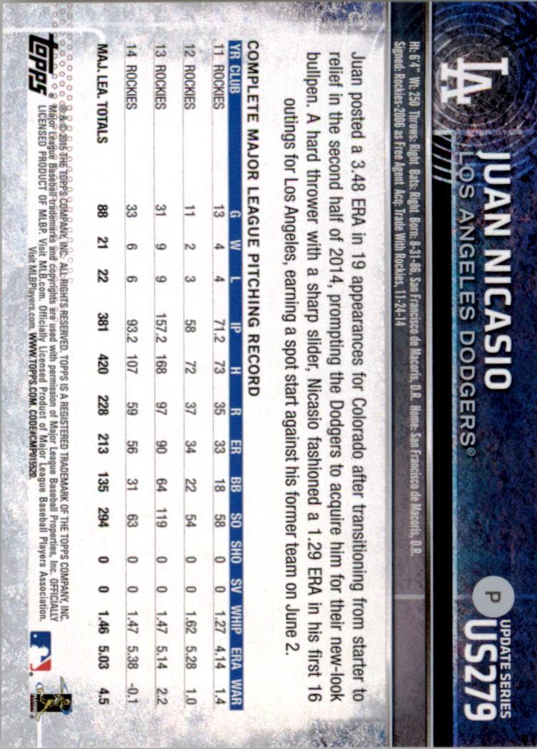 2015-Topps-Actualizacion-Beisbol-Tarjeta-Recoger-238-400 miniatura 72
