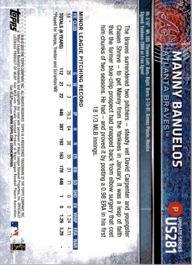 2015-Topps-Actualizacion-Beisbol-Tarjeta-Recoger-238-400 miniatura 76