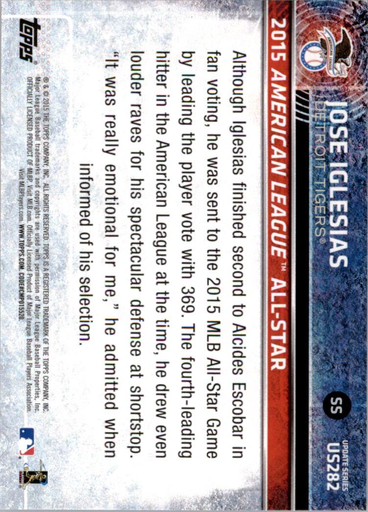 2015-Topps-Actualizacion-Beisbol-Tarjeta-Recoger-238-400 miniatura 78