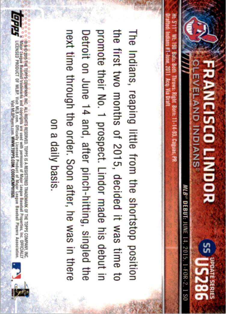 2015-Topps-Actualizacion-Beisbol-Tarjeta-Recoger-238-400 miniatura 84