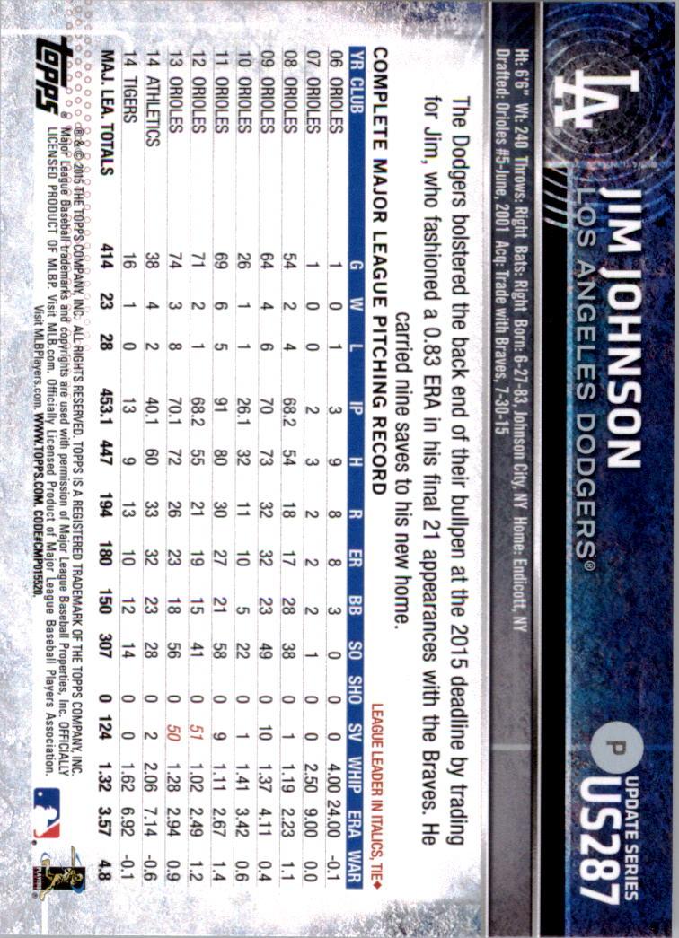 2015-Topps-Actualizacion-Beisbol-Tarjeta-Recoger-238-400 miniatura 86
