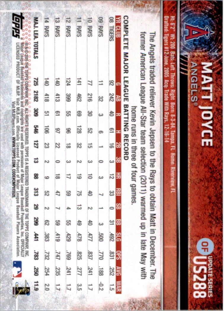 2015-Topps-Actualizacion-Beisbol-Tarjeta-Recoger-238-400 miniatura 88