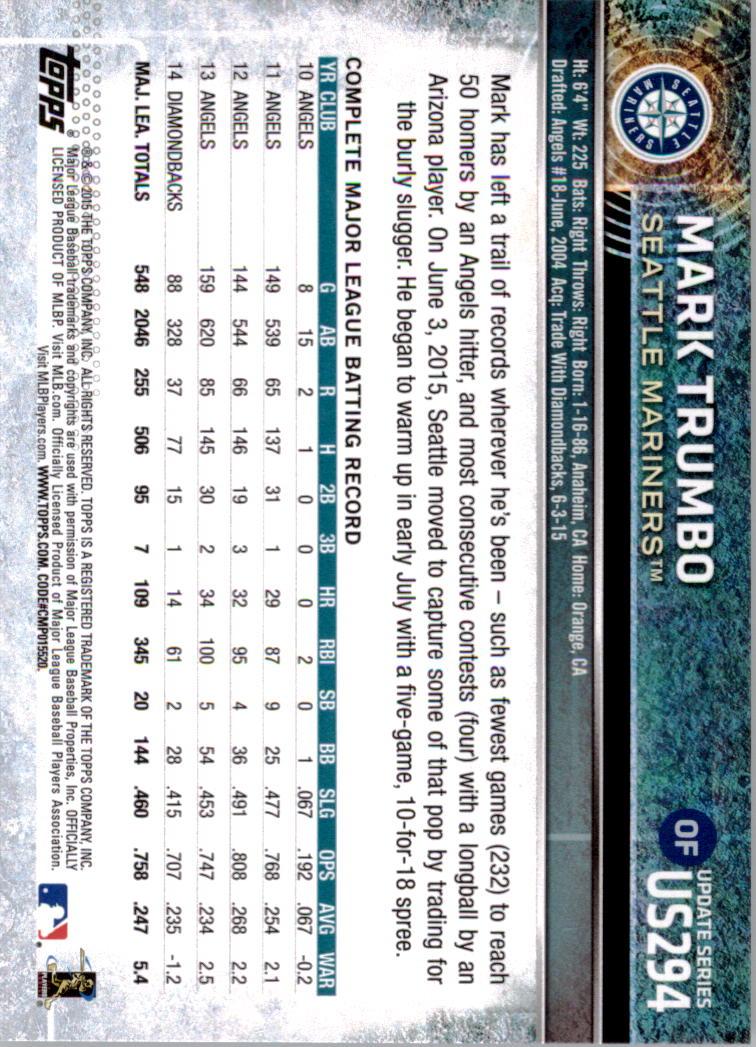 2015-Topps-Actualizacion-Beisbol-Tarjeta-Recoger-238-400 miniatura 96