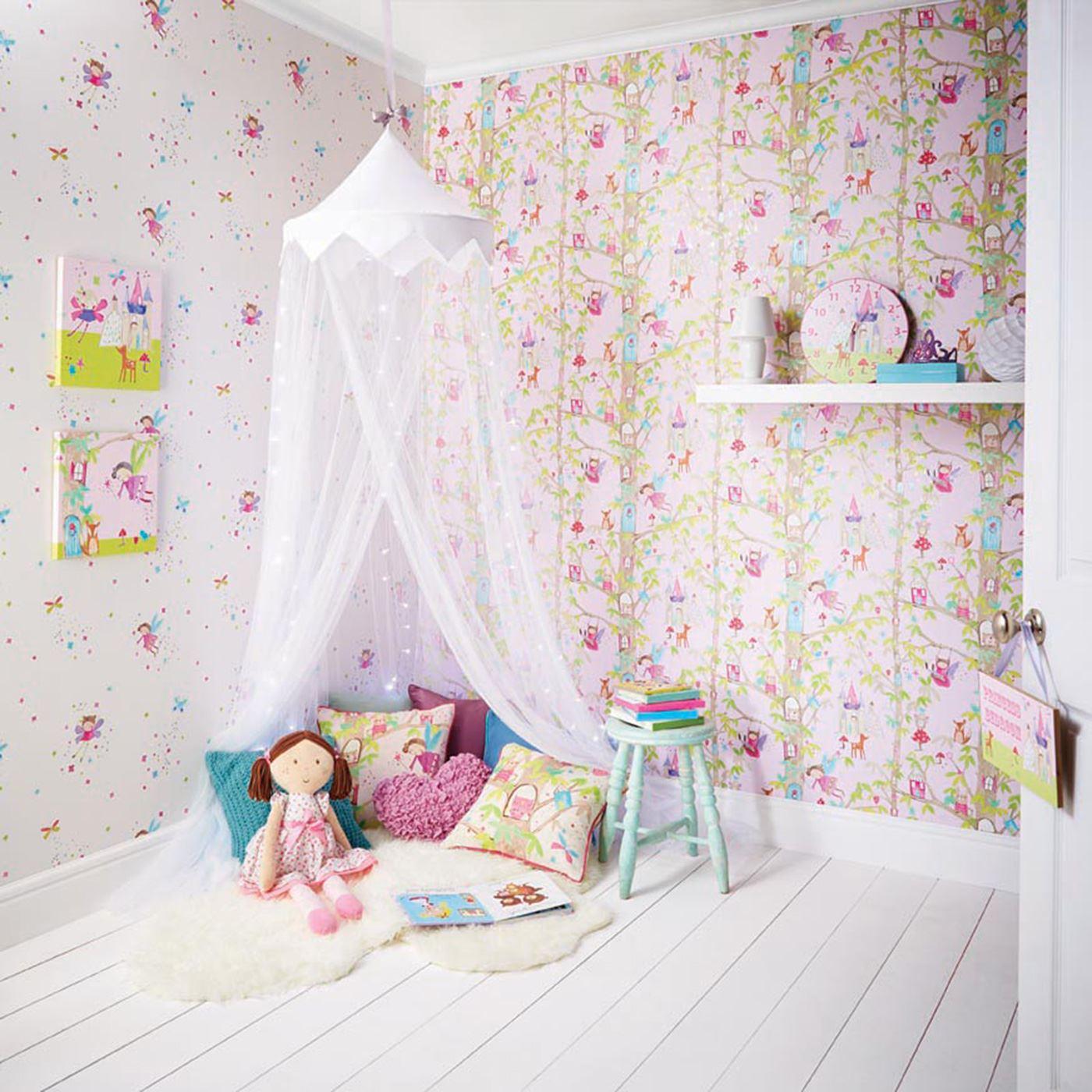 m dchen tapete thema schlafzimmer einhorn sterne herz. Black Bedroom Furniture Sets. Home Design Ideas