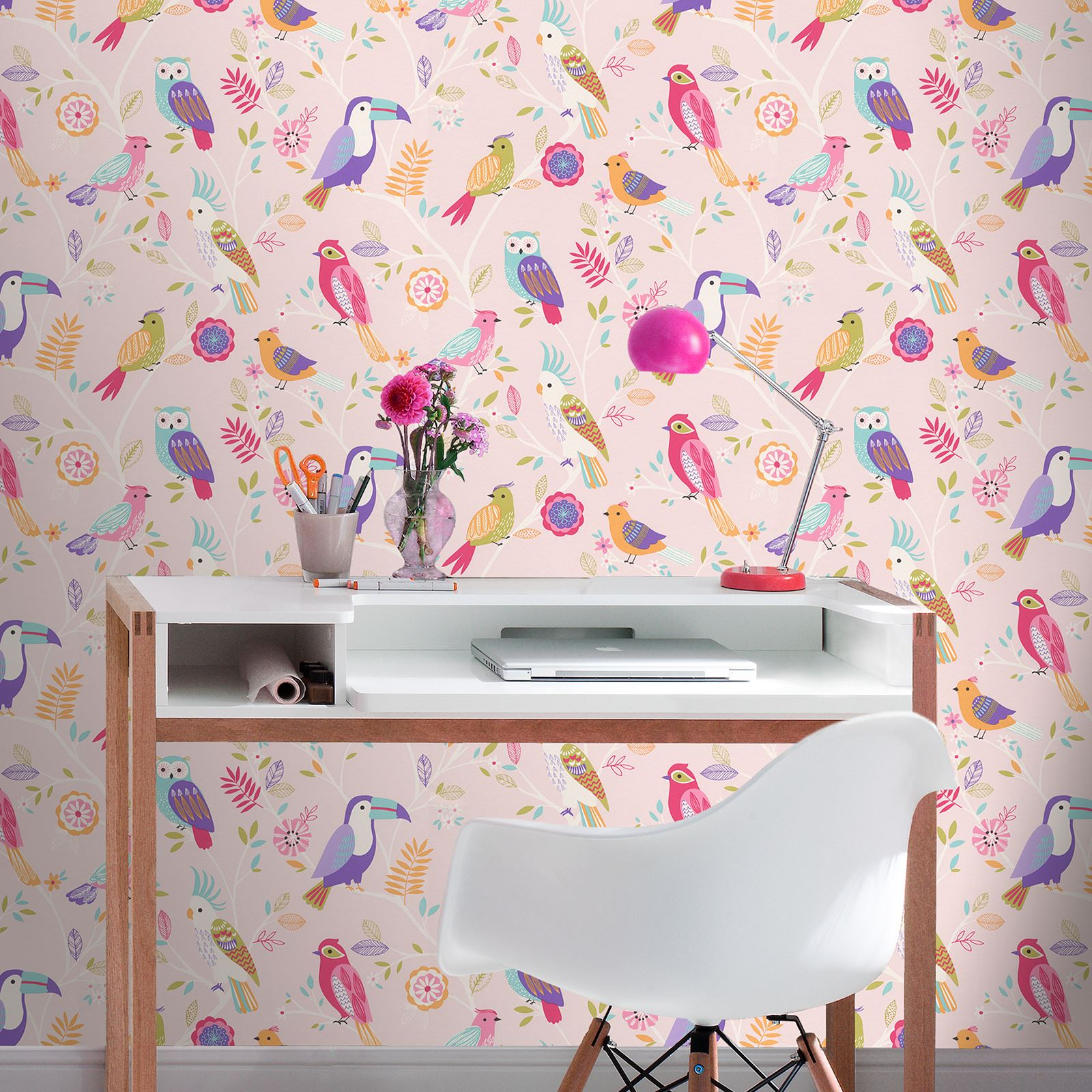 Wallpaper Design For Bedroom: GIRLS WALLPAPER THEMED BEDROOM UNICORN STARS HEART GLITTER