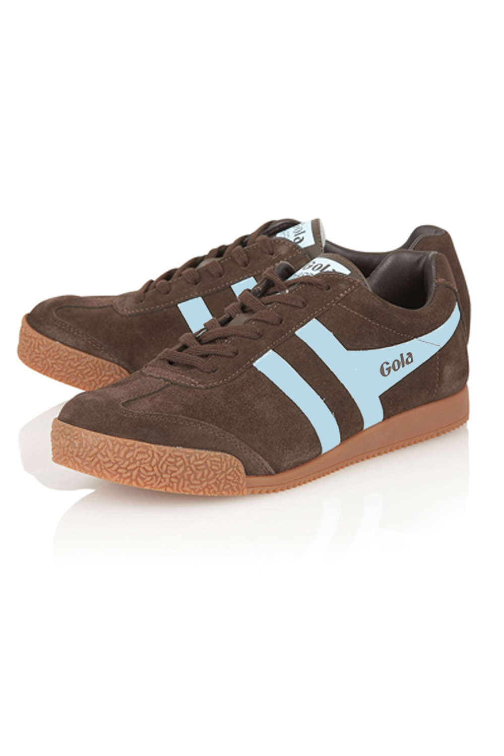 thumbnail 17 - Gola Harrier Suede Classic Vintage Lace-Up Sneakers Mens Trainers Low Top Shoes