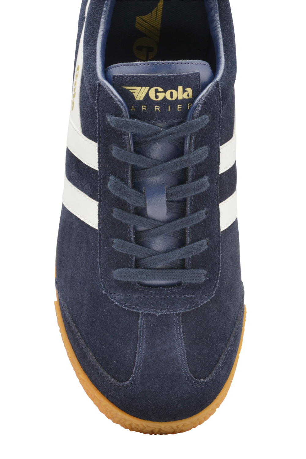 thumbnail 3 - Gola Harrier Suede Classic Vintage Lace-Up Sneakers Mens Trainers Low Top Shoes