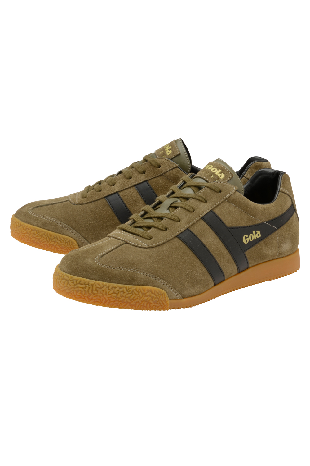 thumbnail 9 - Gola Harrier Suede Classic Vintage Lace-Up Sneakers Mens Trainers Low Top Shoes