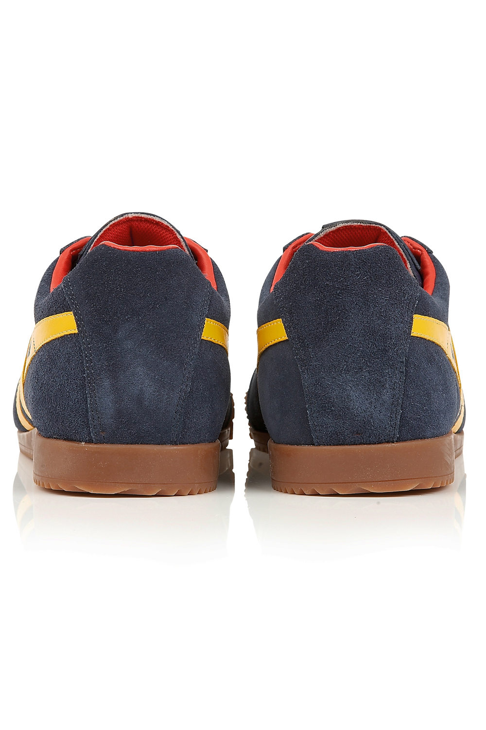 thumbnail 14 - Gola Harrier Suede Classic Vintage Lace-Up Sneakers Mens Trainers Low Top Shoes