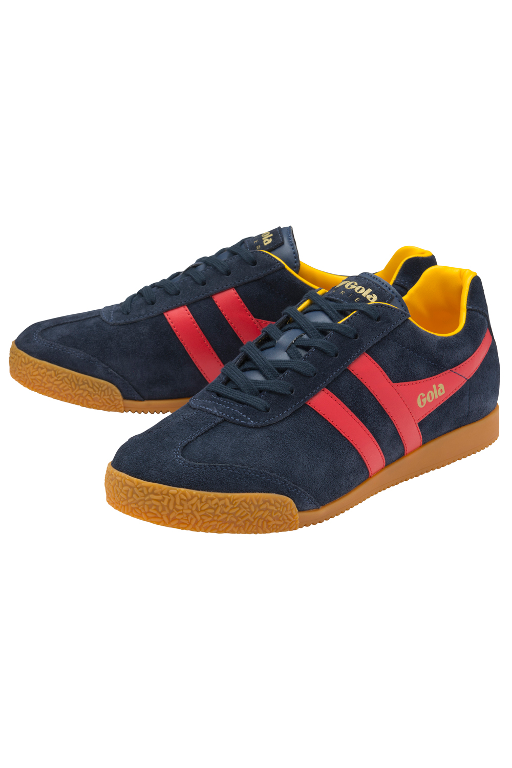 thumbnail 22 - Gola Harrier Suede Classic Vintage Lace-Up Sneakers Mens Trainers Low Top Shoes