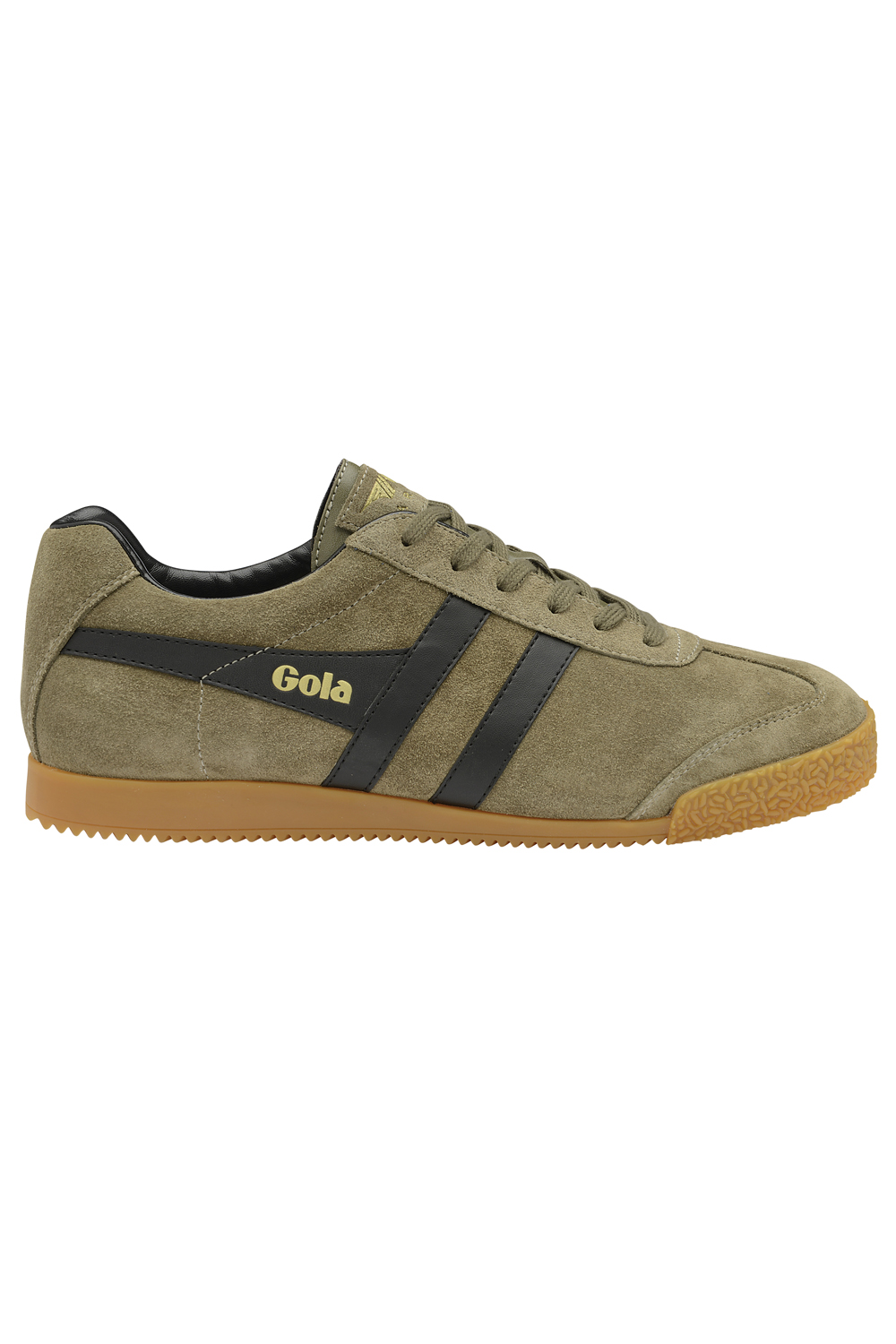 thumbnail 7 - Gola Harrier Suede Classic Vintage Lace-Up Sneakers Mens Trainers Low Top Shoes