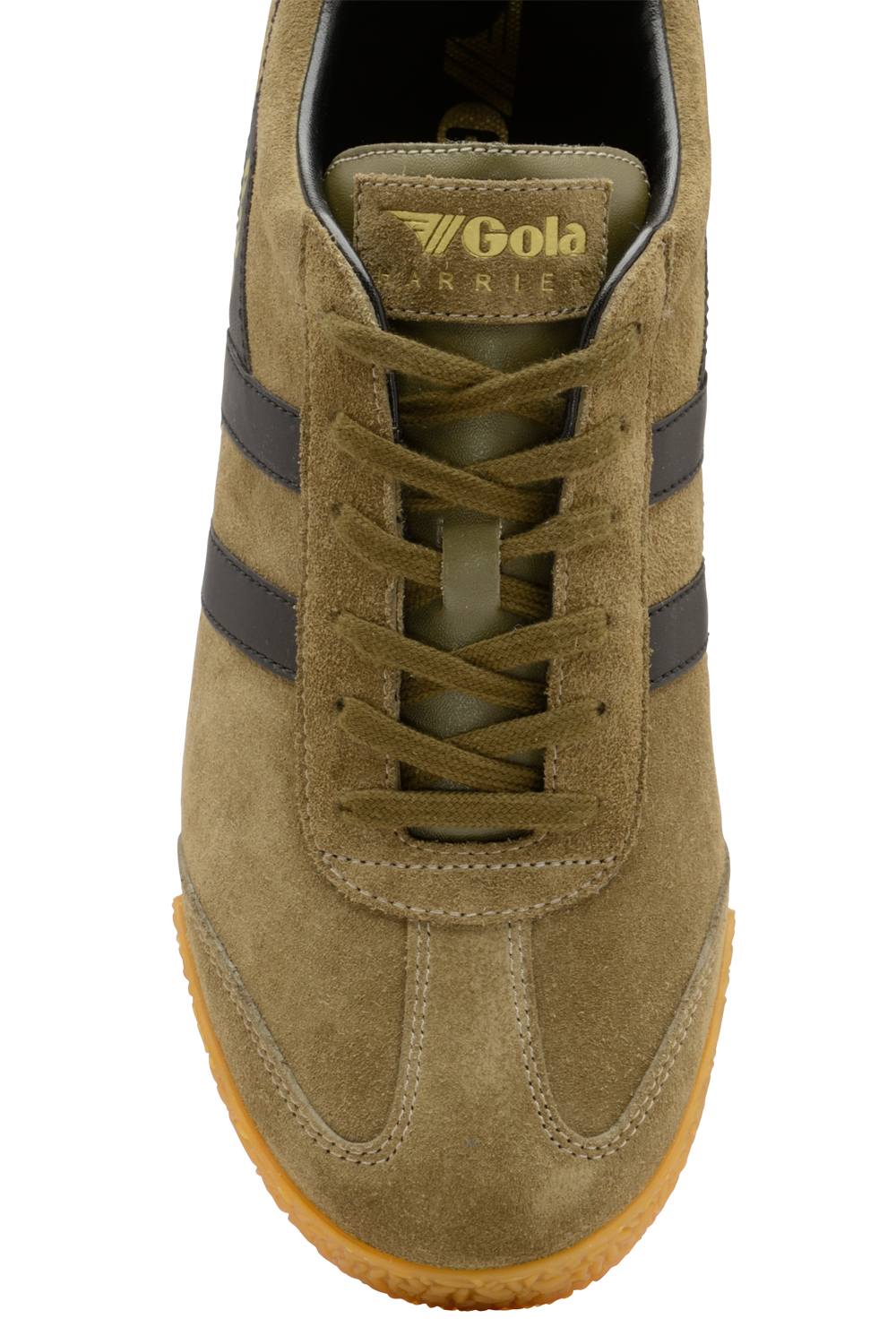 thumbnail 8 - Gola Harrier Suede Classic Vintage Lace-Up Sneakers Mens Trainers Low Top Shoes