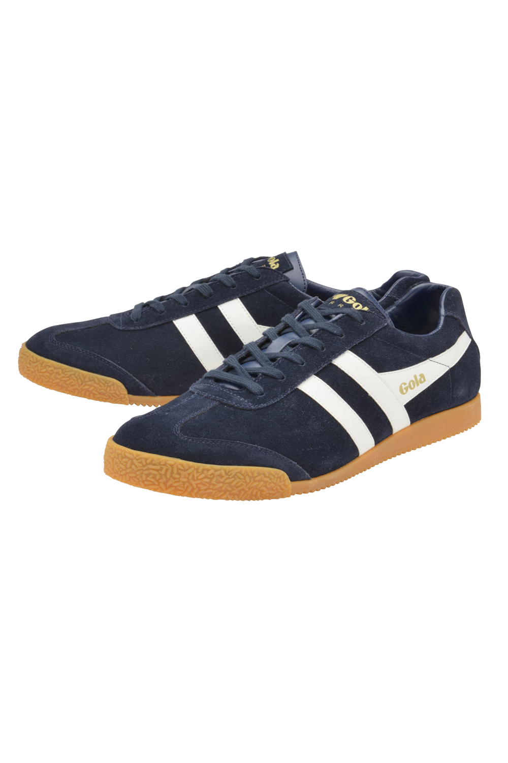 thumbnail 4 - Gola Harrier Suede Classic Vintage Lace-Up Sneakers Mens Trainers Low Top Shoes