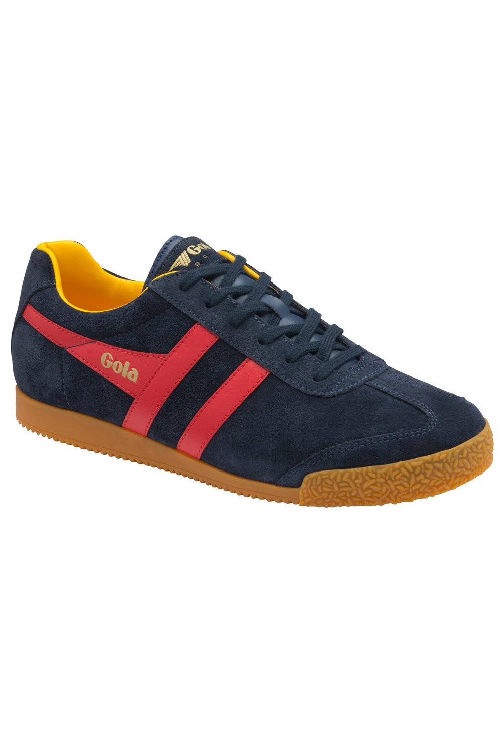 thumbnail 20 - Gola Harrier Suede Classic Vintage Lace-Up Sneakers Mens Trainers Low Top Shoes