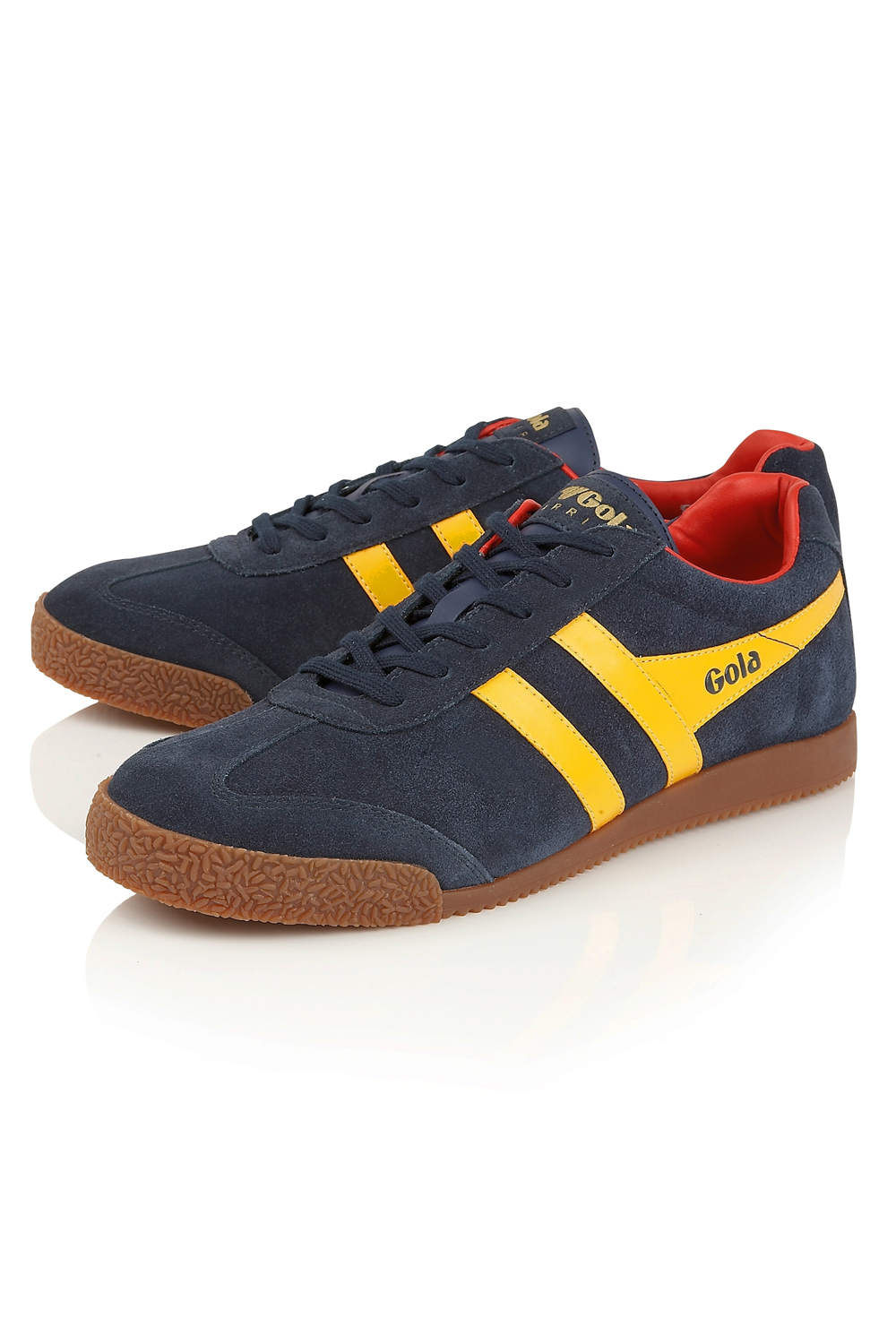 thumbnail 13 - Gola Harrier Suede Classic Vintage Lace-Up Sneakers Mens Trainers Low Top Shoes