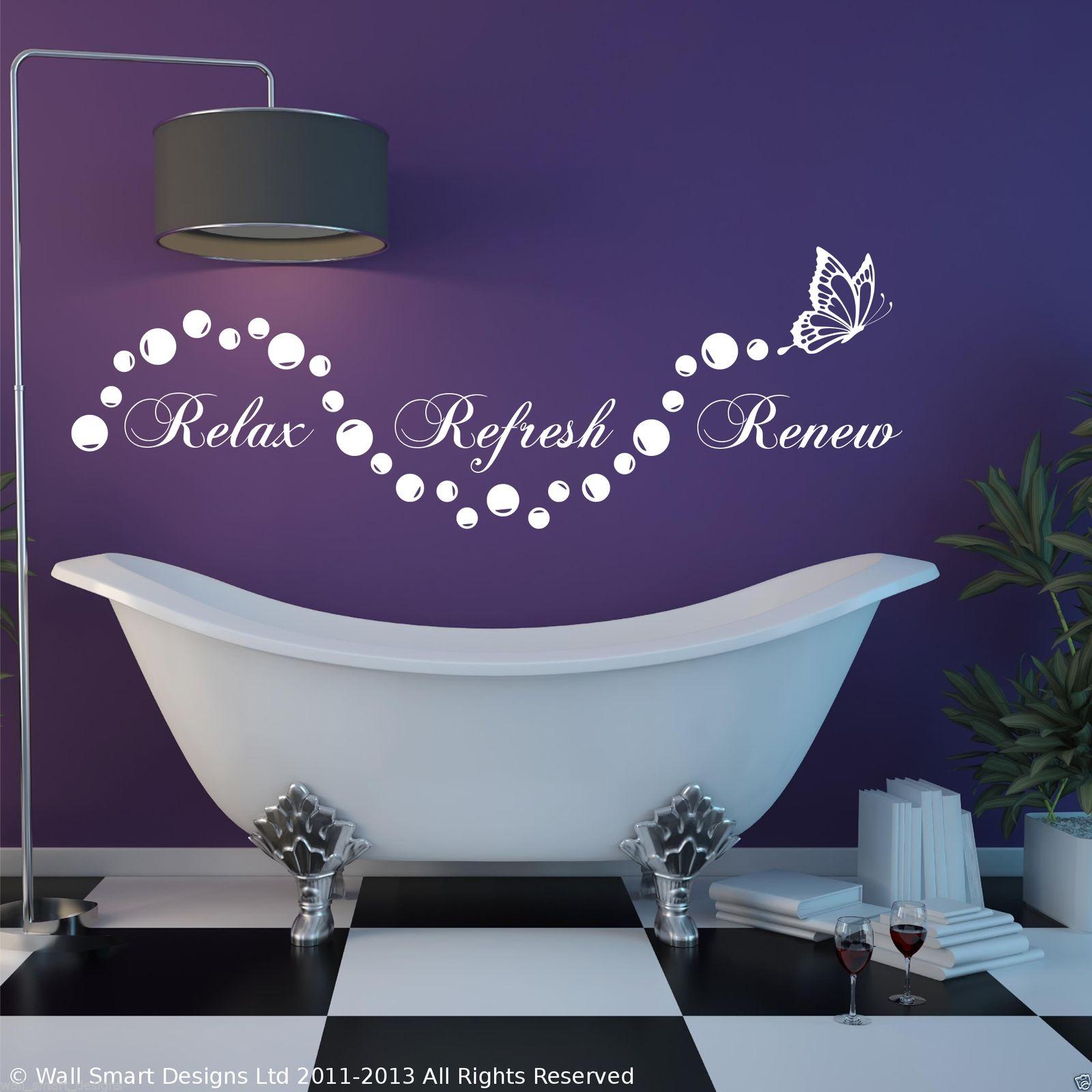 Relax badezimmer Aufkleber En Wohnzimmer Wandkunst Mit Spruch Schablone Transfer eBay - Wall Art Stickers Ebay