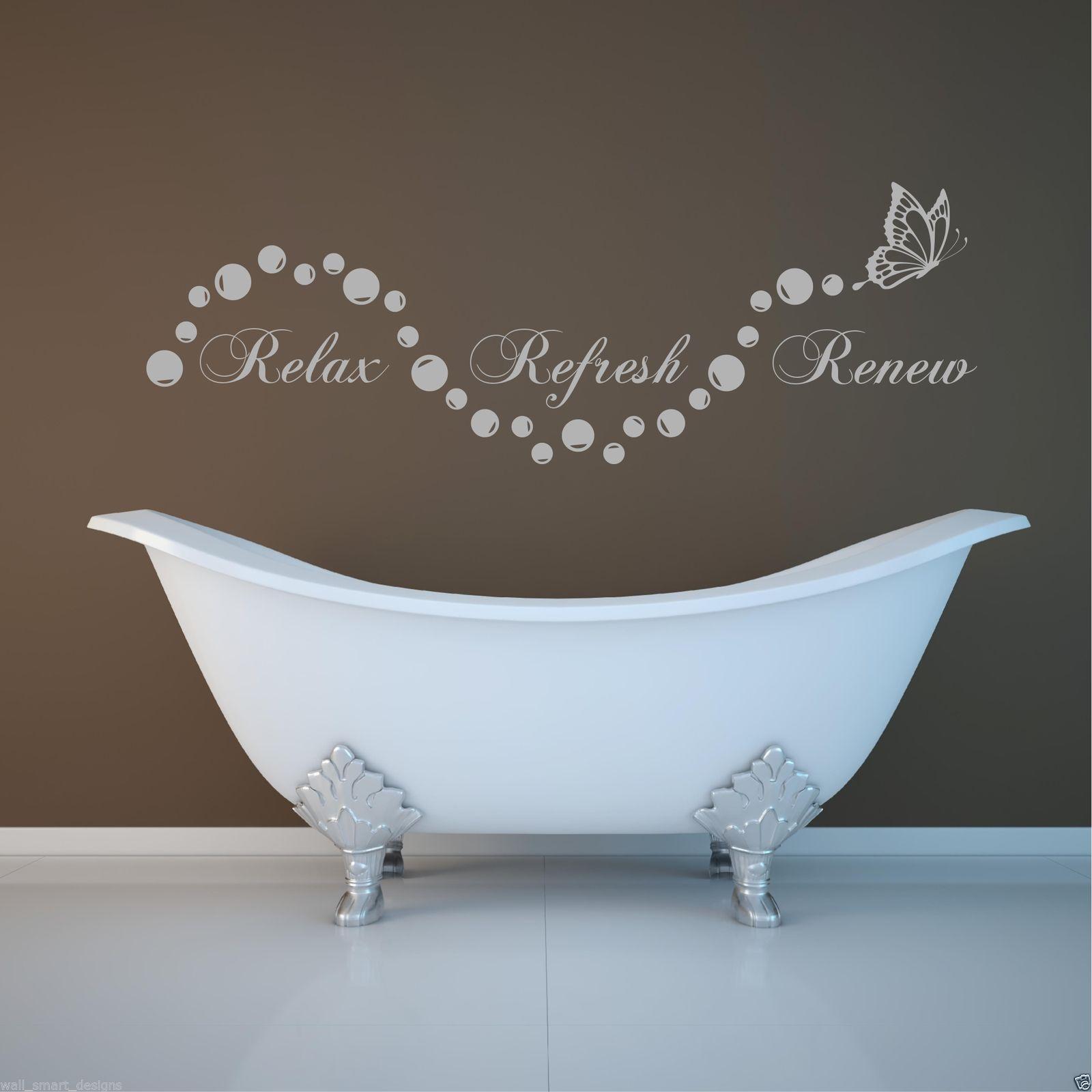 Bathroom Art Au: Relax Bathroom Bubbles En Suite Wall Art Sticker Quote