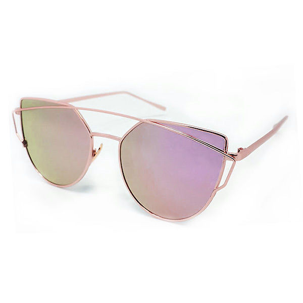 damen metallrahmen berdimensional katze brillen gespiegelt sonnenbrille retro ebay. Black Bedroom Furniture Sets. Home Design Ideas
