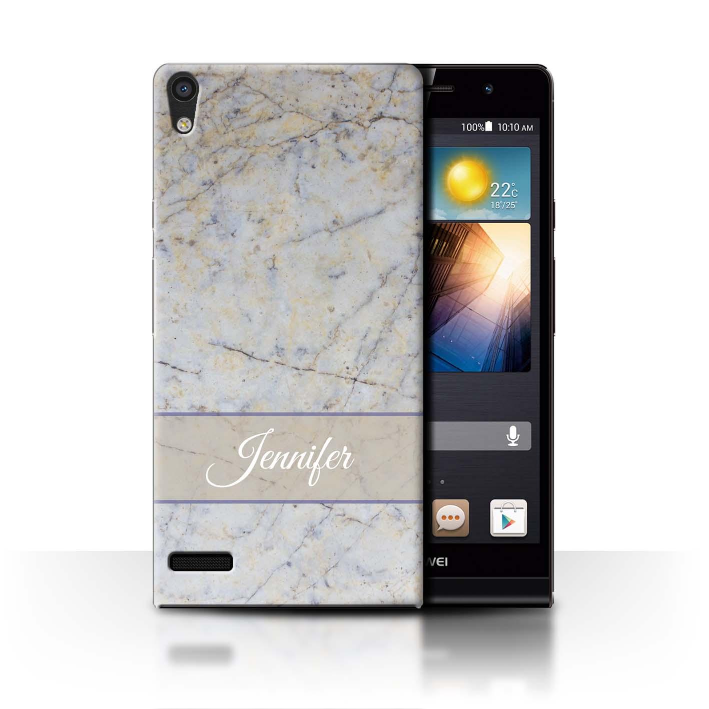 Personalizado-Marmol-Funda-Para-Telefono-funda-Para-Huawei-P-Smartphone-Inicial
