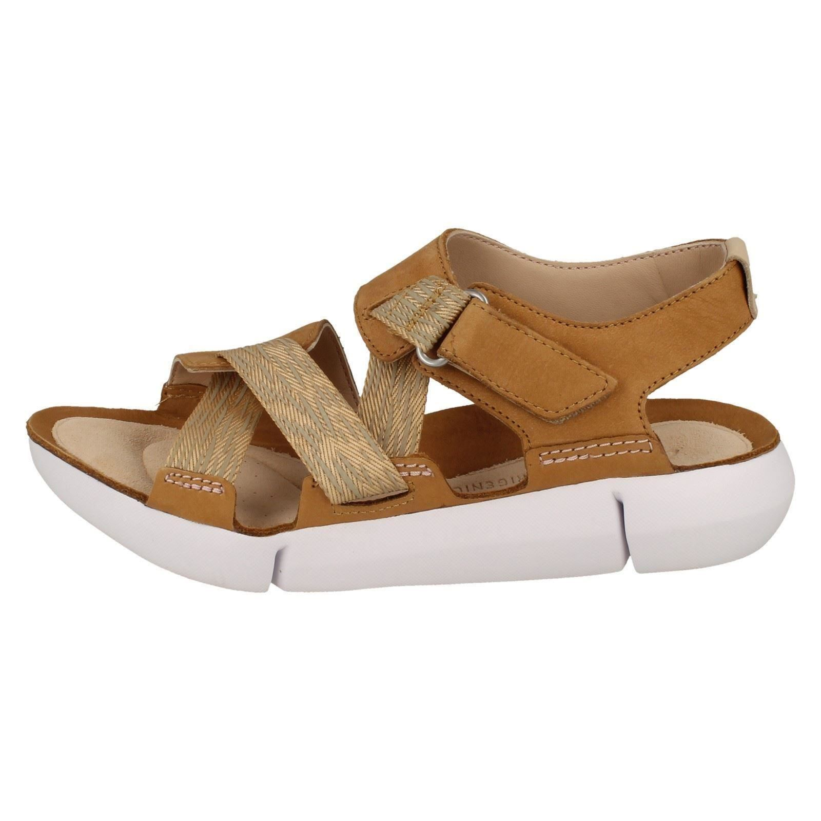 Details about Ladies Clarks Leather Sporty Sandals Tri Clover