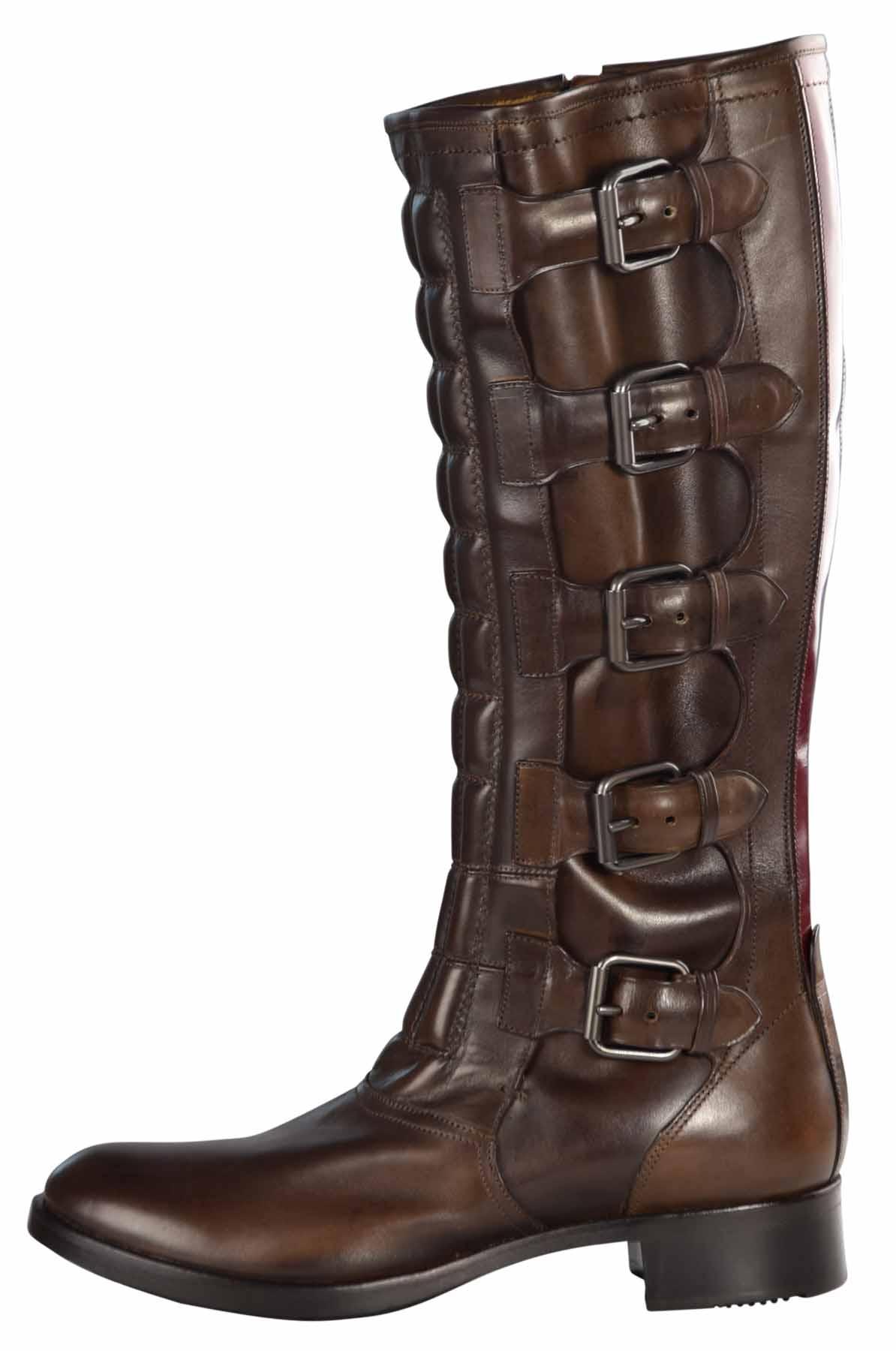 Reed Reed Reed Krakoff señora multi con hebillas botas de cuero e8dc42