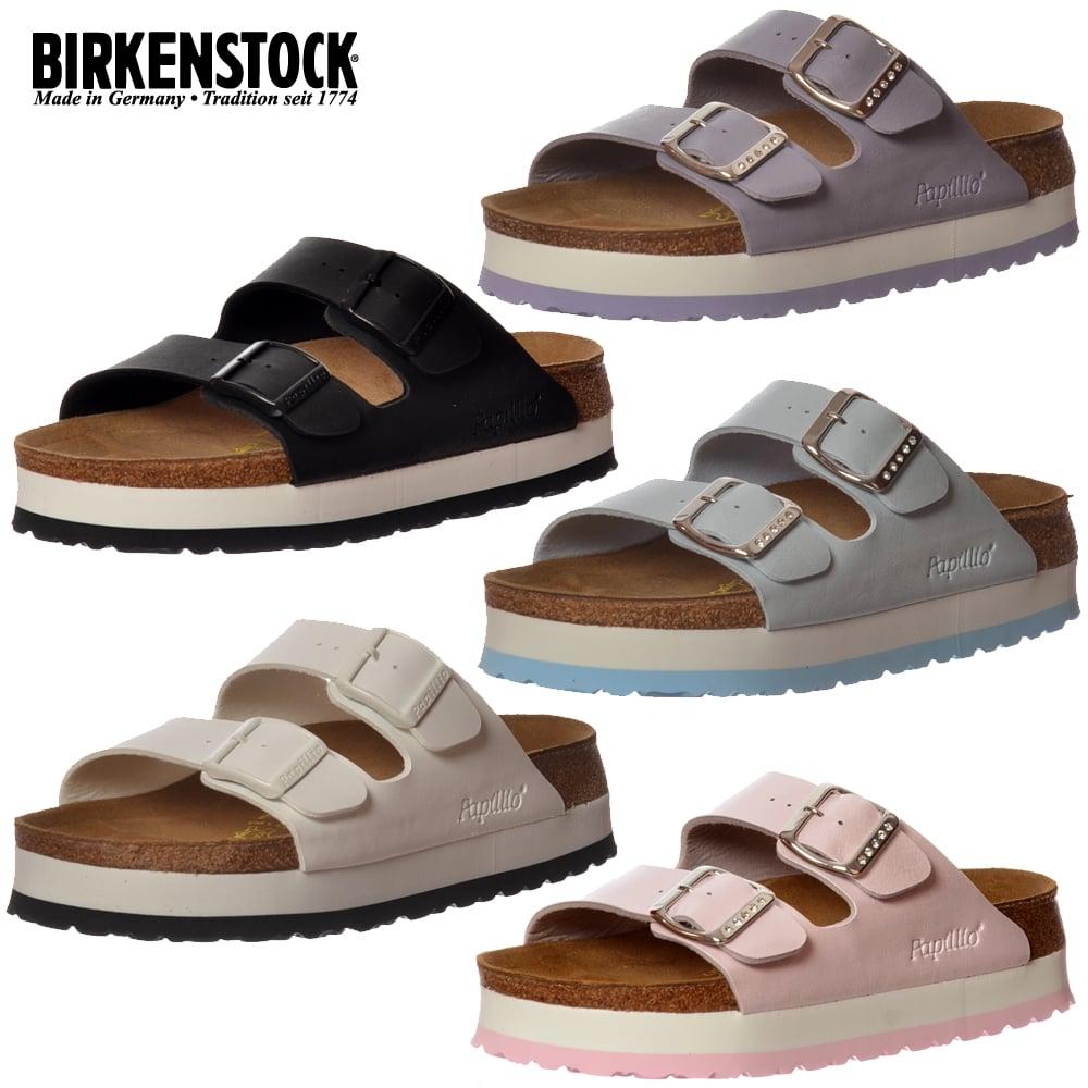 Details about Birkenstock Papillio Arizona Semelle Compensée Coupe Standard Sandales Tongs