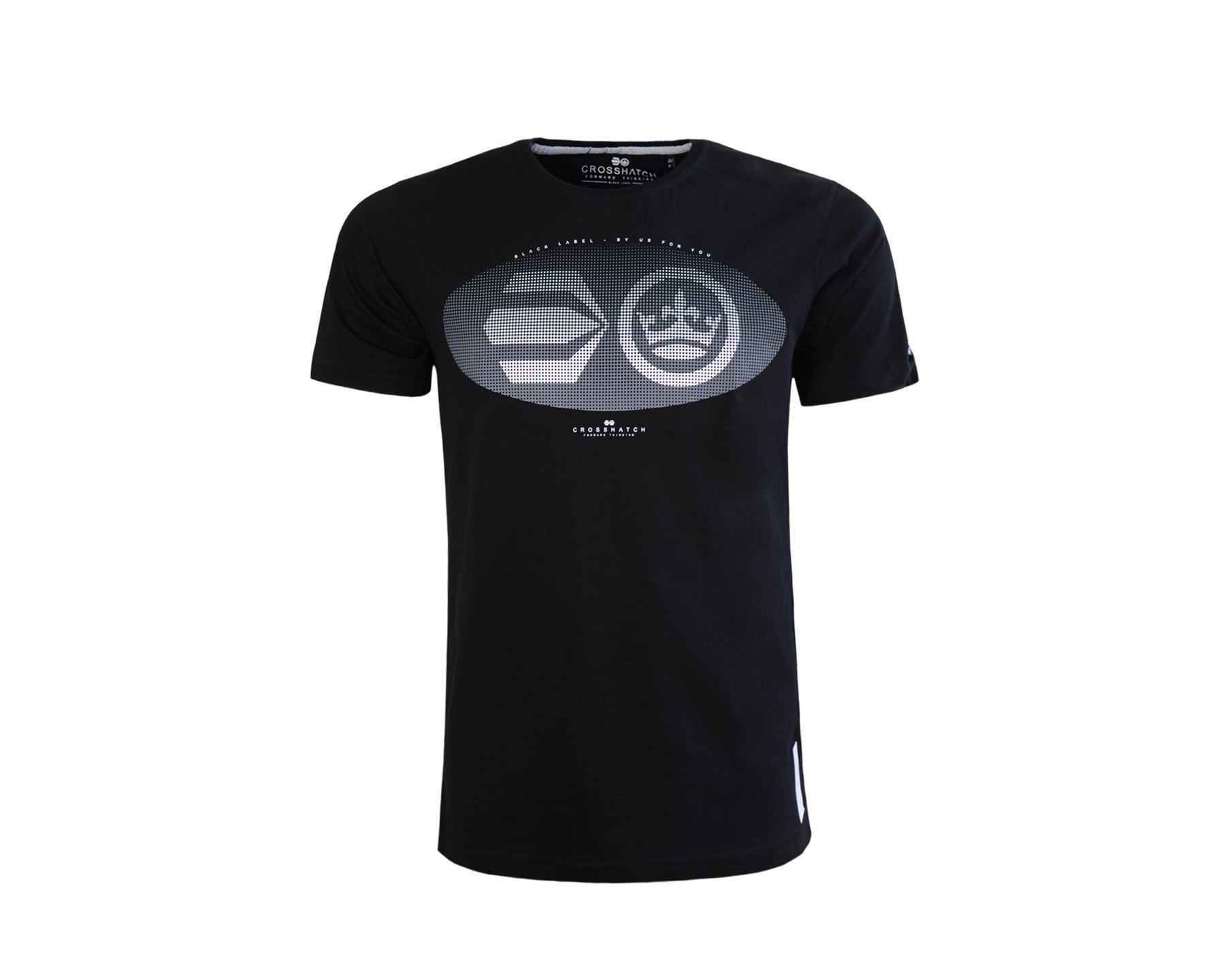 neuf-avec-etiquettes-homme-Crosshatch-Graphique-T-shirt-imprime-S-M-L-XL-XXL