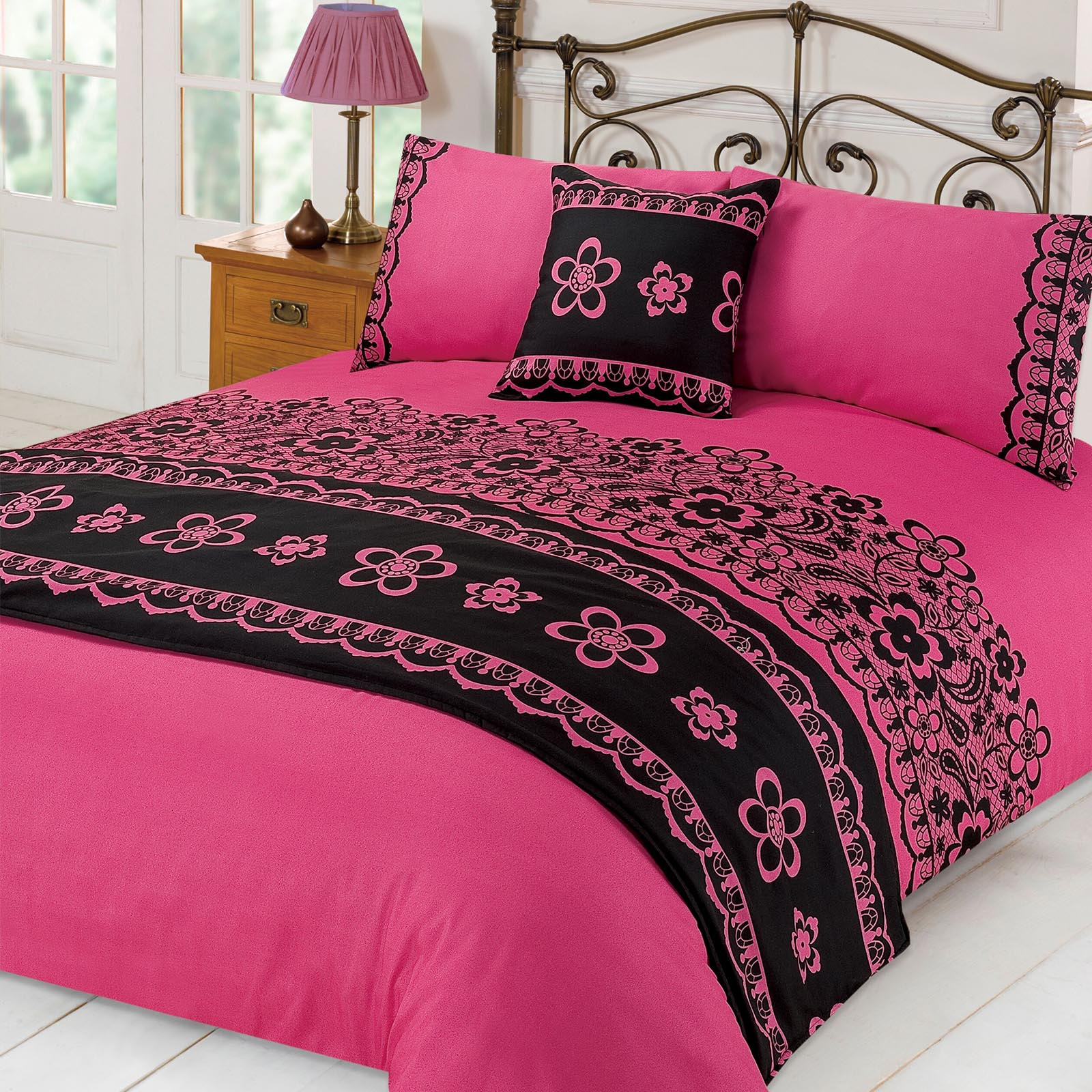 spitze bettbezug mit kissenbez ge l ufer bett im beutel. Black Bedroom Furniture Sets. Home Design Ideas