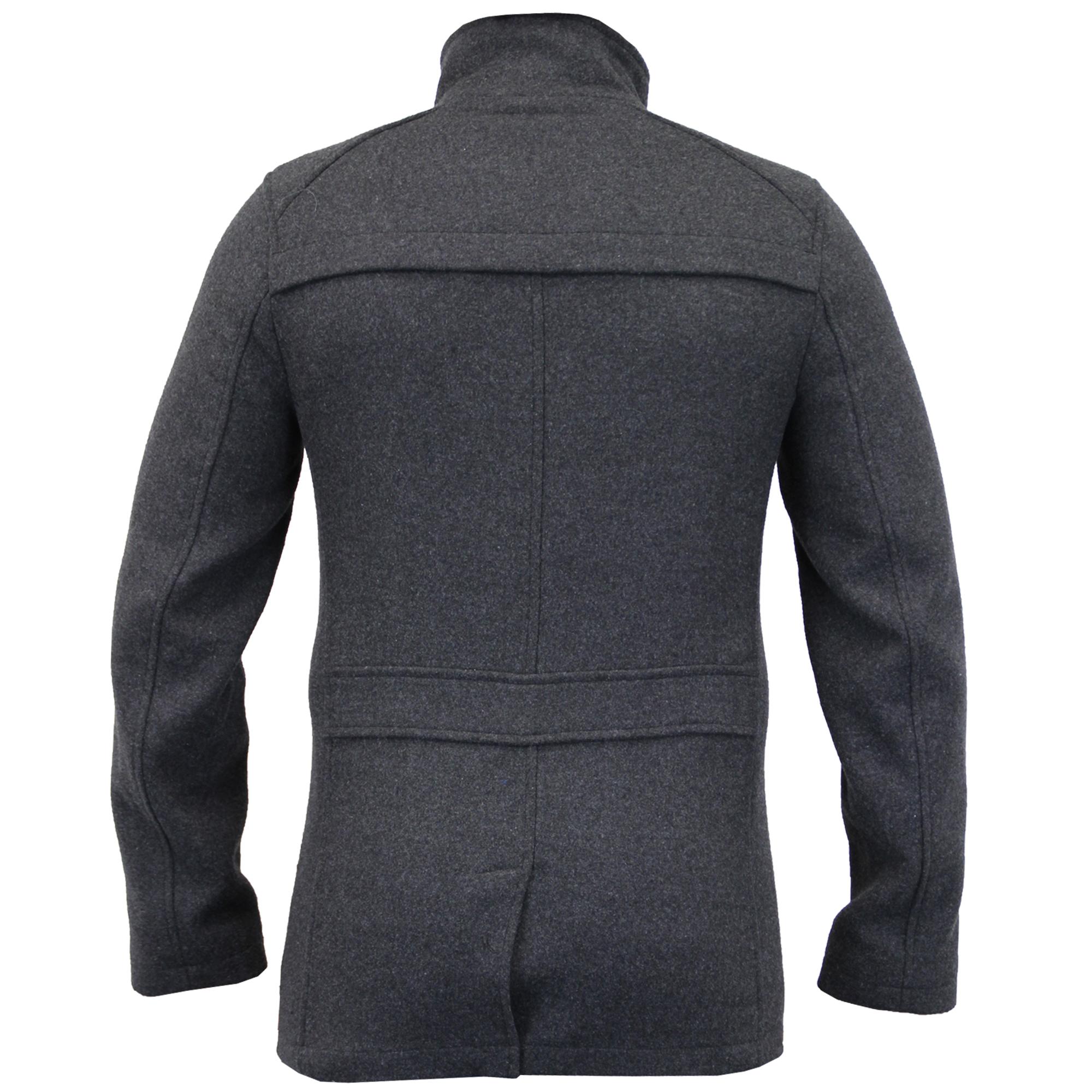 filato in imbottito petto per Cappotto in misto uomo lana Cappotto Doppio Nuovo invernale RvY0vn