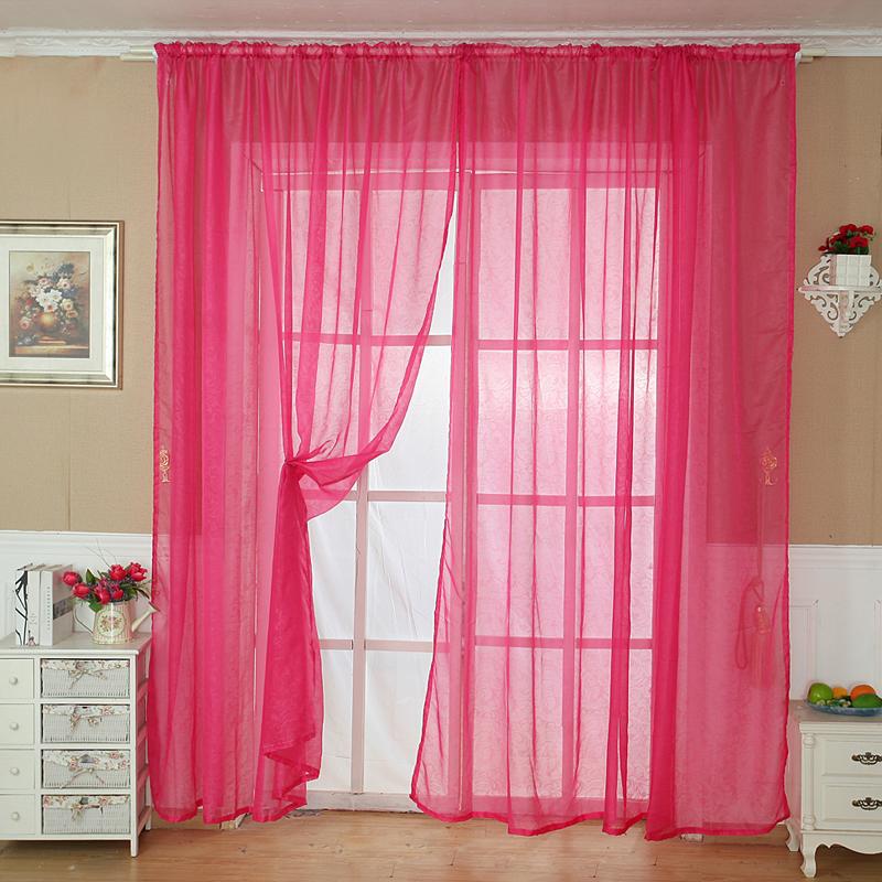 volltonfarbe t ll t r fenster vorhang dransein panel durchsichtig schal volant ebay. Black Bedroom Furniture Sets. Home Design Ideas
