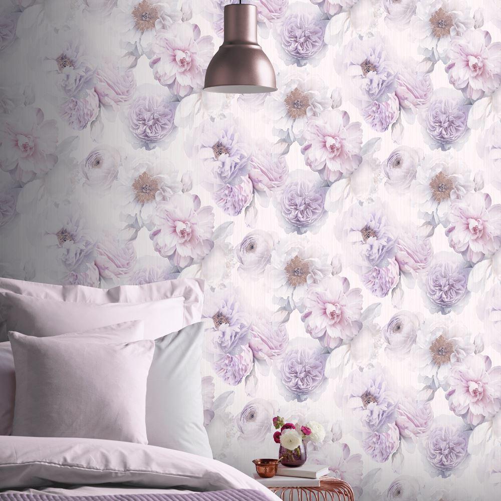 Arthouse FANTASIA nocturne Violet Sarcelle papier peint 692301-paillettes Floral Stars